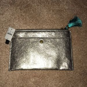 J.Crew medium metallic Pouch